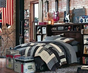 bedroom, guitar, and music image