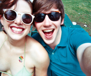couple, smile, and cute image