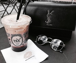 sunglasses, bag, and coffee image
