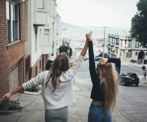 friends, girl, and friendship image