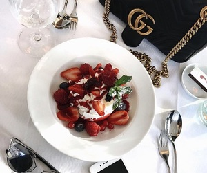food, gucci, and fruit image