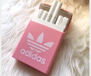 adidas, cigarette, and pink image