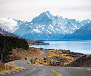 new zealand, travel, and campervans image