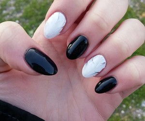 almond, black, and marble image
