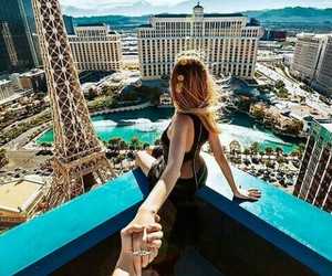 Las Vegas, travel, and couple image