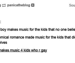 fall out boy, my chemical romance, and panic at the disco image