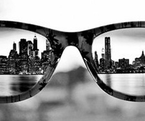 black and white, pictures, and glasses image