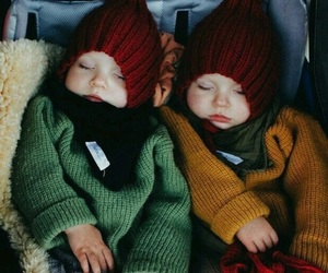 twins, baby, and love image
