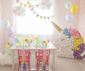 balloons, pastel, and party image