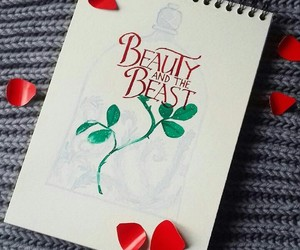 beauty and the beast, dibujo, and disney image