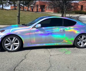 car, holographic, and cool image