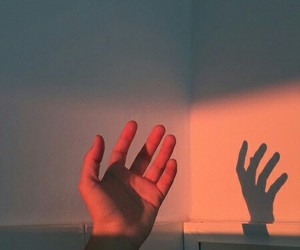 grunge, hand, and light image