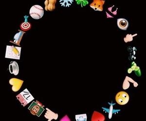 circle, emojis, and overlay image