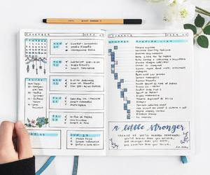bujo, girl, and goals image