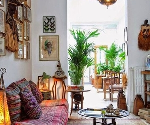 interior, bohemian, and home image