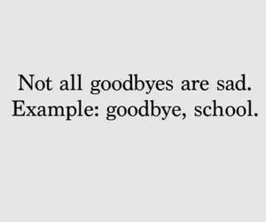 school, goodbye, and sad image