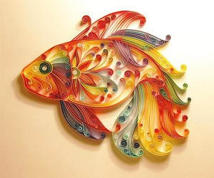 fish, art, and Paper image
