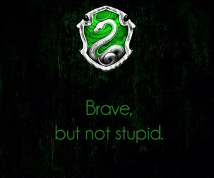 slytherin, harry potter, and brave image