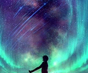 stars, anime, and sky image