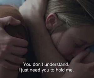 boy, girl, and hug image