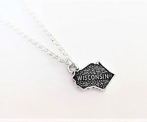 etsy, silver necklace, and best friend gift image
