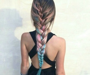 beauty, braid, and color image