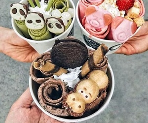 ice cream, sweet, and yummt image