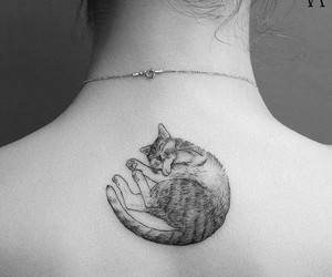 cat, tattoo, and body image