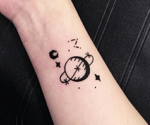 tattoo, stars, and planet image