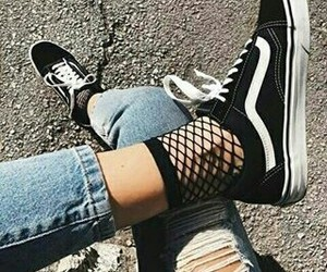 vans, black, and jeans image
