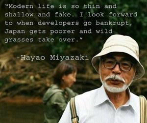 Hayao Miyazaki, quote, and studio ghibli image