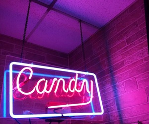 neon, candy, and pink image