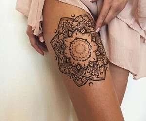 tattoo, mandala, and henna image