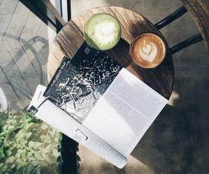 coffee, magazine, and minimal image
