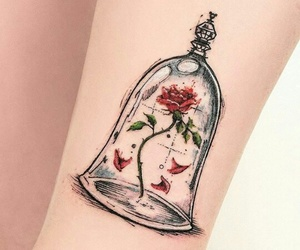 glass, love, and rose image