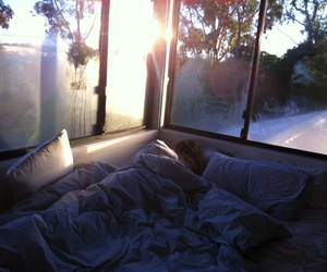 bed, sleep, and room image