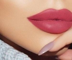 beauty, lipstick, and nails image