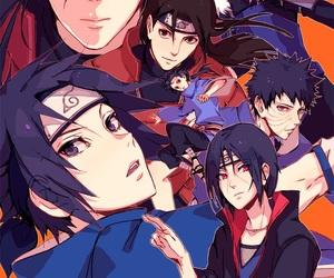 sasuke, uchiha, and itachi image