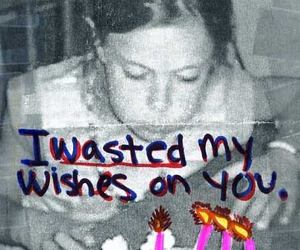wish, birthday, and wasted image