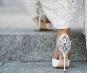 wedding, shoes, and white image
