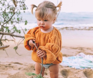 baby, beach, and children image