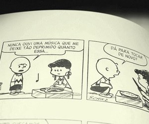 charlie brown, music, and comic image
