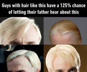 blonde, draco malfoy, and fun image