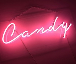 candy, neon, and pink image