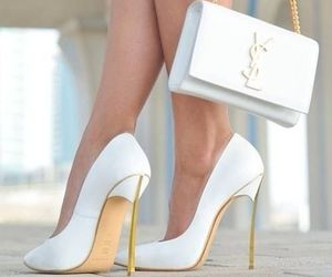 pumps, white, and YSL image