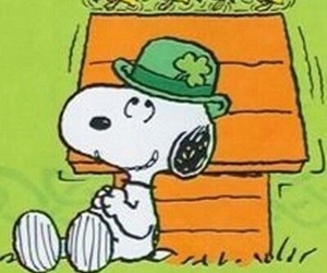 four leaf clover, snoopy, and ireland image