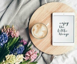 flowers, coffee, and spring image