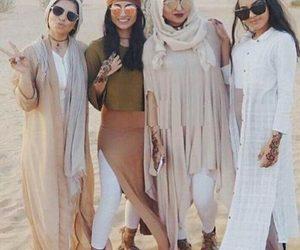 نايسِ, safari hijabi girls, and safari hijab style image