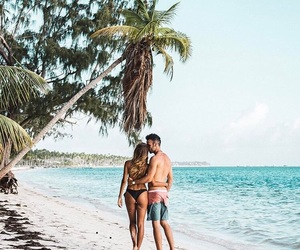 beach, cool, and couple image