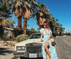 fashion, maxi dress, and sandals image